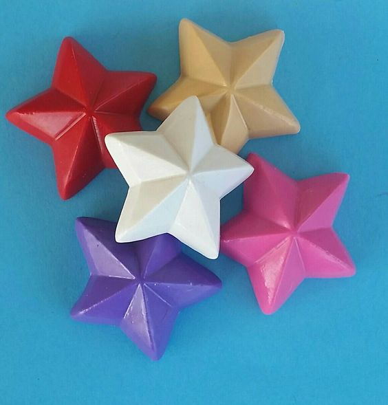3-D Star Crayons, Star Crayons, Outer Space Party, Astronaut Party, Party Favors, Space Party Favors, Birthday by KrazyKoolKrayons on Etsy