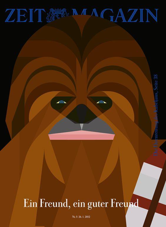 #ClassicCovers #ZEITmagazin 26. Januar 2012 #Chewbacca #StarWars #FriendsForever