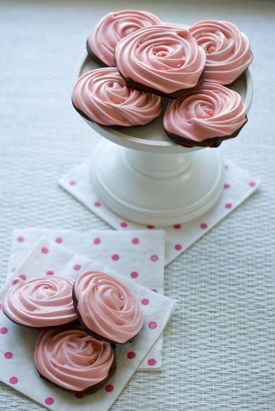 Recette de roses meringuées au chocolat