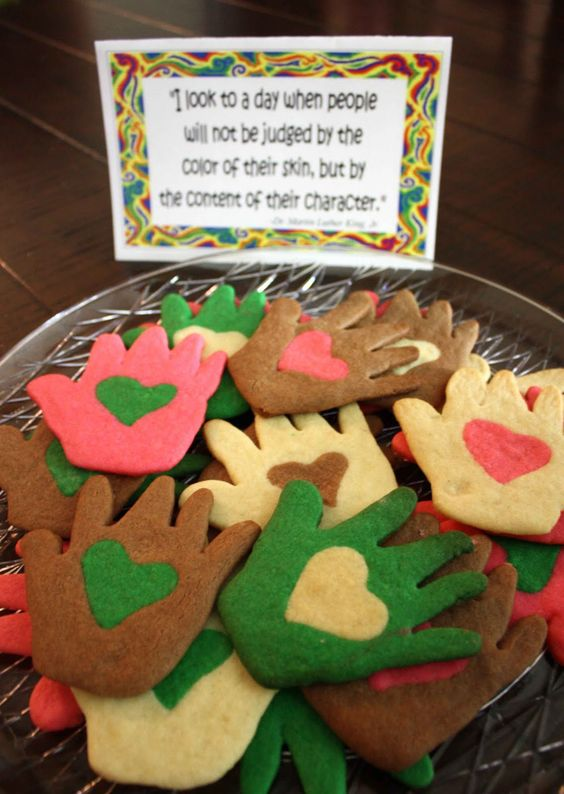 Love in hands cookies would be beneficial for the end of a unit.  This is a good way to tie in the meaning behind mlk day and use art for students to express themselves.