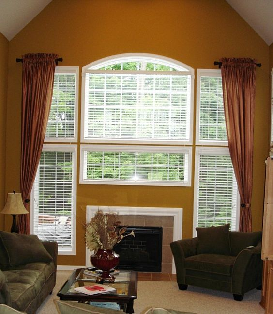 Curtains Ideas curtains for casement windows : Windows, Captivating Bulls Eye Window Architecture Living Room ...