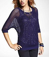 this sweater + this necklace + pair of rerock jeans = perfect night-out outfit! #expressjeans