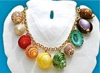 Gold Mixed Shell Charm Bracelet