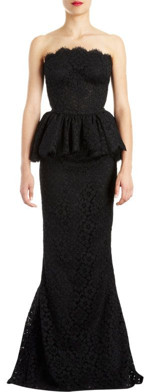 Dolce & Gabbana Lace Peplum Trumpet-skirt Gown at Barneys.com: