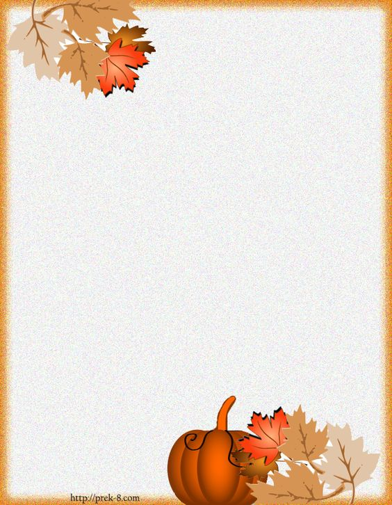 Holiday paper borders printables fall harvest for Free thanksgiving templates