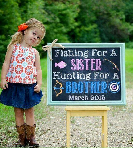 Cute way to announce a new sibling – Ways to Announce a Second Baby