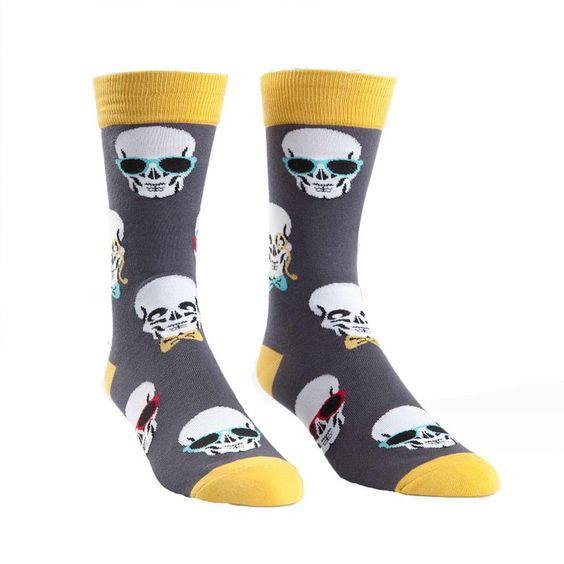 Sock It to Me Men's Socks Dapper Dandy's Crew Grey 1pair