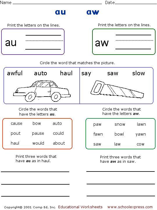 Free kindergarten worksheets australia