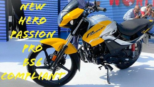 New Hero Passion Pro Bs6 Engine And New Looks In 2020 Hero