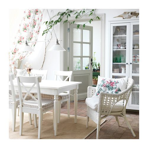 INGATORP Extendable table IKEA Extendable dining table with 1 extra leaf seats 4-6; makes it possible to adjust the table size according to ...