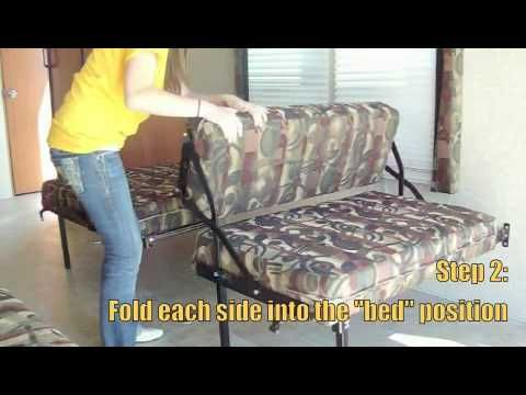 Hide Away Dinette Sofa Bed Toy Hauler Rv Travel