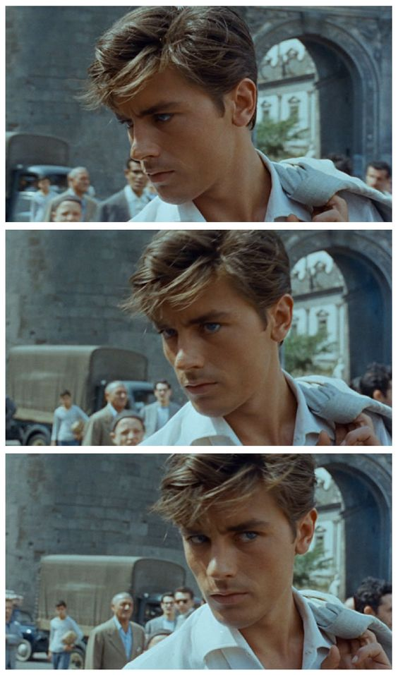Alain Delon in Plein Soleil (1960) — This film was remade in 1999 as The Talented Mr. Ripley