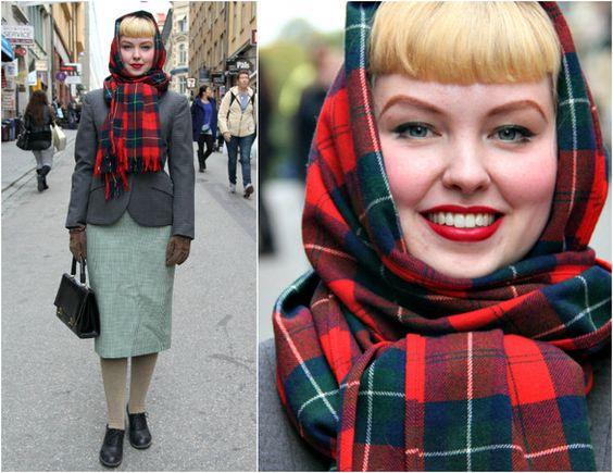 платок винтажный стиль