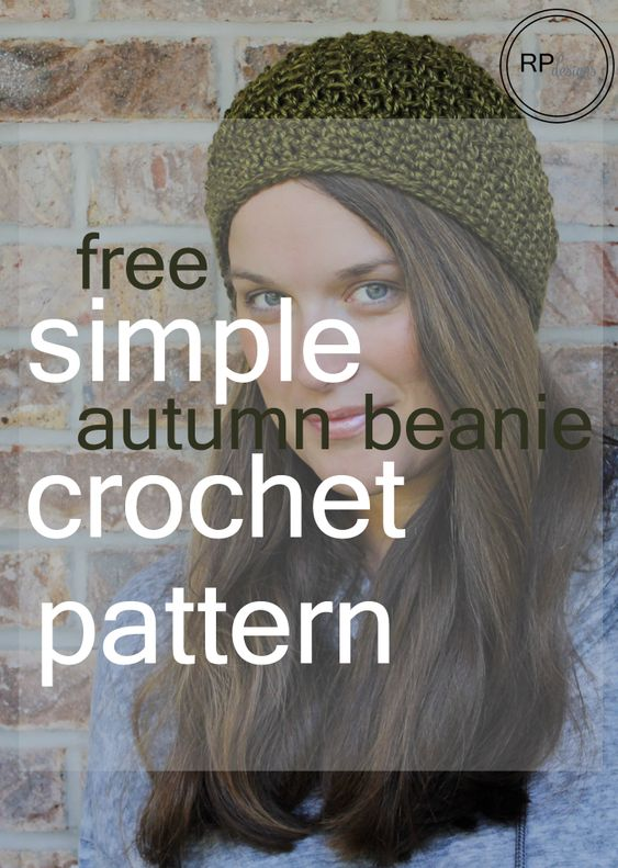 """Free """"Autumn is here"""" Crochet Beanie Pattern - designed by Rescued Paw Designs."""