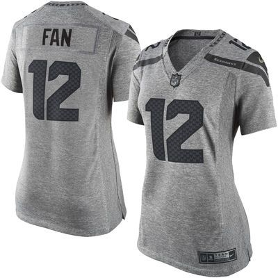 Women's Seattle Seahawks 12th Fan Nike Gray Gridiron Gray Limited ...