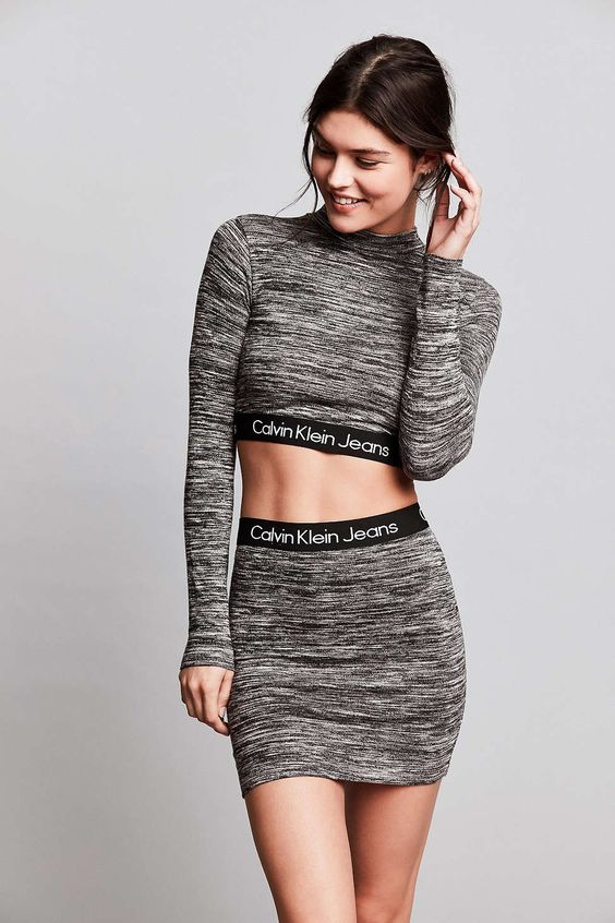 Calvin Klein For UO Space-Dye Knit Mini Skirt - Urban Outfitters