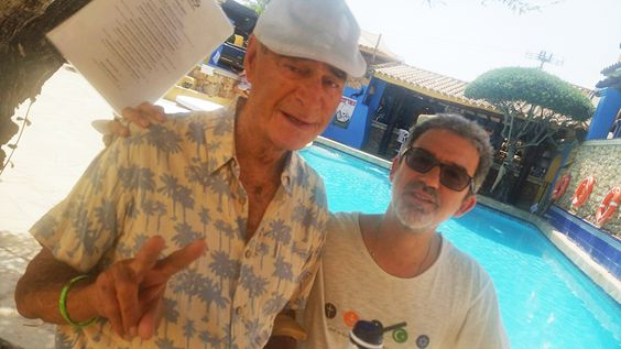 Ibiza legend Tony Pike (sporting his favourite Komodo shirt) with Joe Komodo - Ibiza Rocks, 2016
