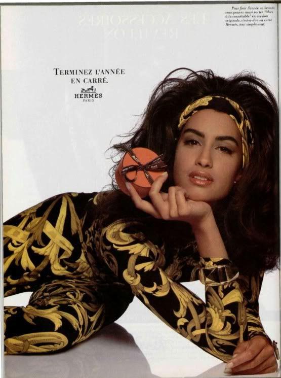 ☆ Yasmeen Ghauri | For Hermes Campaign | Spring 1993 ☆ #Yasmeen_Ghauri #Hermes #1993
