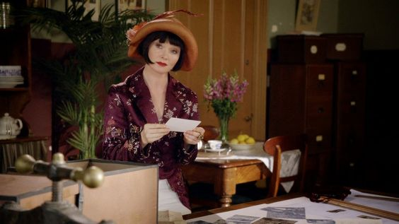 Miss Fisher's Murder Mysteries: Essie Davis as Phryne Fisher in Miss Fisher's Murder Mysteries: Season 1, Episode 8 - Away With The Fairies (2012)