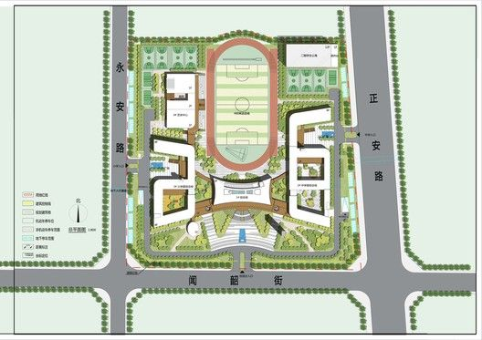 Gallery Of Jiyang Xinyuan School Bpd Architects 26 School Building Design Site Plan Design School Architecture