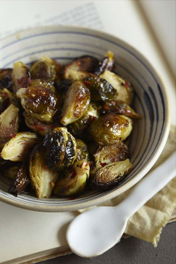Asian Style Brussel Sprouts. This looks delicious!!