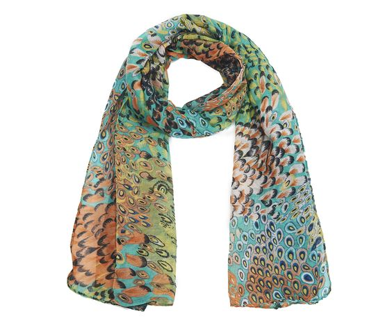 This bright and beautiful printed scarf is sure to get the attention it deserves!