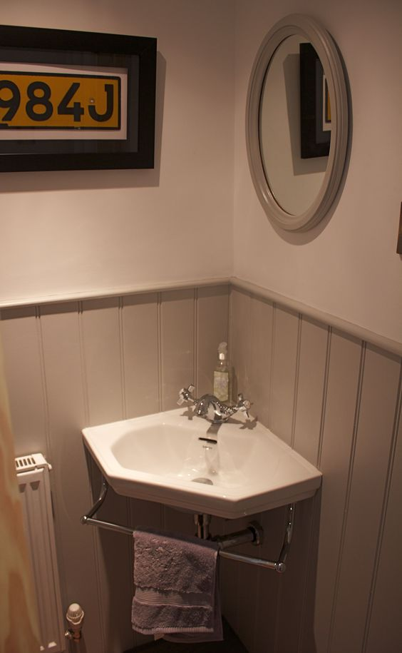 Pinterest the world s catalog of ideas for Small bathroom under stairs