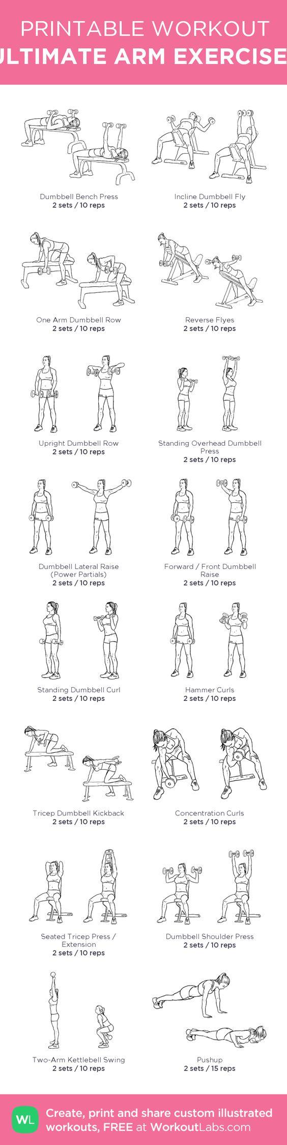 ULTIMATE ARM EXERCISES: my custom printable workout by @WorkoutLabs #workoutlabs #customworkout