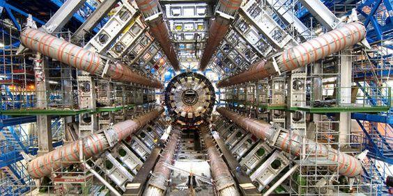 Imagen del detector Atlas, dentro de las instalaciones de la Organización Europea para la Investigación Nuclear (Cern).