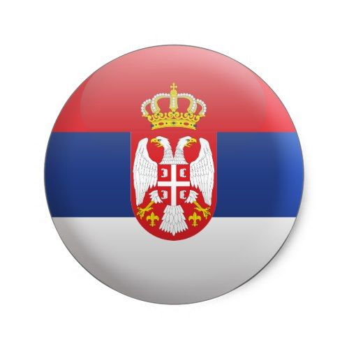 Serbia Flag Stickers Flag Decals Vinyl Round Set of 4 Serbian Flags
