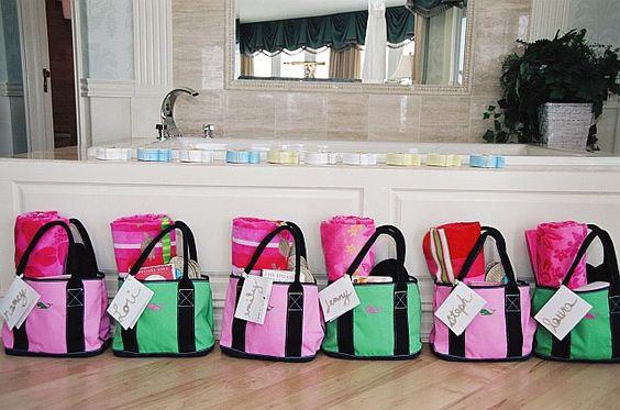 Bridesmaids Welcome Bags for beach or destination wedding