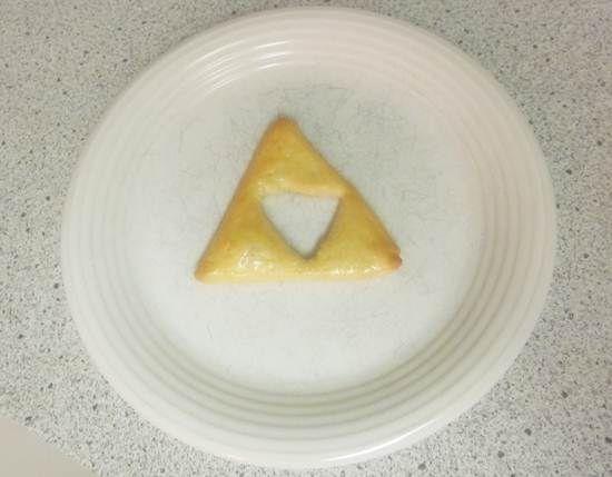 Triforce pretzel - Zelda fun - homemade and organic.