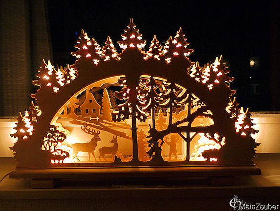 A schwibbogen is a decorative candle holder from the ore for Arch candle christmas decoration