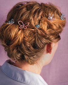 cute beaded hair ornaments (on bobby pins)