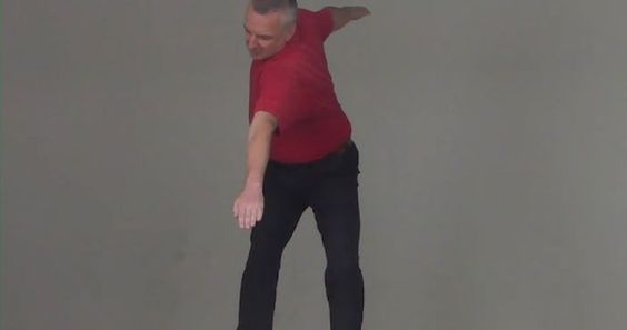 Golf Swing Drill 401c. Transition: Moving in Two Directions at Once – the Airplane Drill
