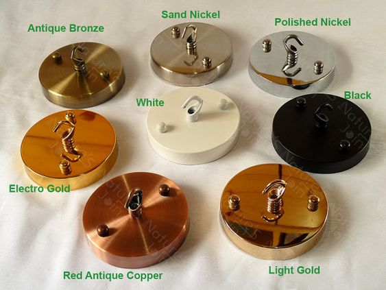 8 colours, DIY Ceiling Canopy Mounting Kit max load 5kg - Hook for ...