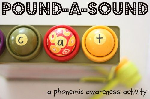 Pound-a-Sound:  A phonemic awareness activity for kinesthetic learners!