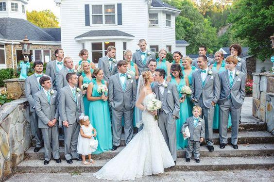 Psiu Noiva - Paleta de Cores Azul Tiffany e Branco