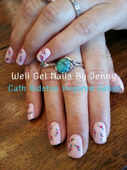 Gelish Nails with Cath kidston Inspired Nails