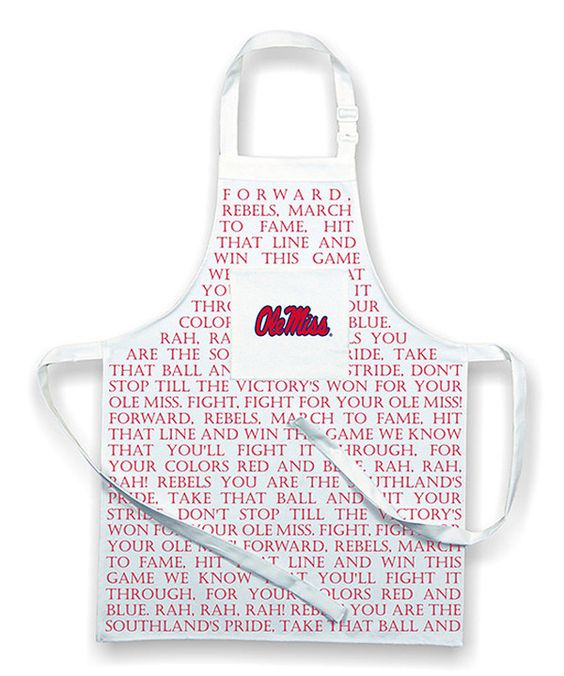 Look at this #zulilyfind! Ole Miss Rebels Fight Song Apron by NCAA #zulilyfinds