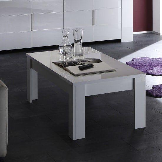 Rossini Modern Coffee Table Rectangular In White Gloss Table Modern Coffee Tables Glass Top Coffee Table