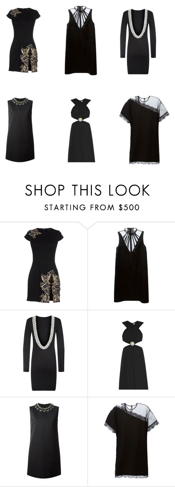 """""""Little Black dress 2"""" by runwaycatalog ❤ liked on Polyvore featuring Dsquared2, Christopher Kane, Balmain, ChristopherKane and dsquared2"""