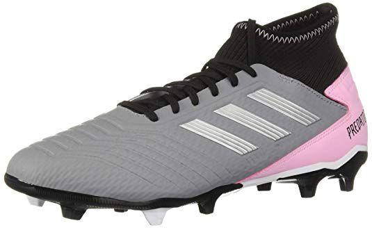Amazon Com Adidas Predator 19 3 Firm Ground Grey Silver Metallic Black 8 5 M Us Soccer Best Soccer Cleats Adidas Predator Soccer Shoes