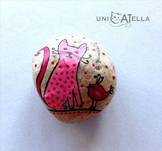 Galet peint  by Unicatella