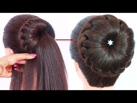 New Bun Hairstyle For Wedding And Party Trending Hairstyle Party Hairstyle Updo Hairstyle You Wedding Bun Hairstyles Bun Hairstyles Party Hairstyles