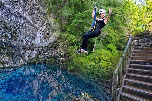 Ziplining In Punta Cana Dominican Republic Ziplining Blue Hole Punta Cana