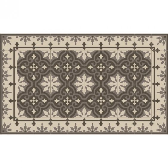 Tapis vinyle 60x99cm imitation carreaux de ciment mounten smoked cuisine pinterest - Dalles vinyle imitation carreaux de ciment ...