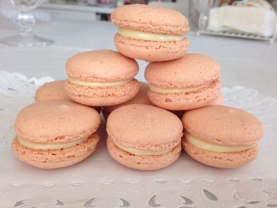 Macarons de chocolate blanco