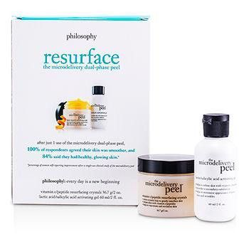 The Microdelivery Peel: Lactic-Salicylic Acid Activation Gel + Vitamin C Resurfacing Crystal - 2pcs