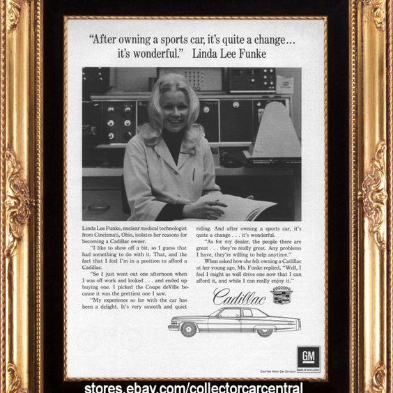 1974 Cadillac Coupe De Ville Linda Lee Funke Vintage Ad from West Coast Vintage for $10.00 on Square Market